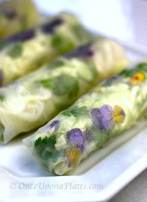 Healthy Vegan Flower Springrolls